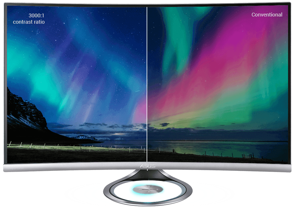 Designo Curve MX32VQ has a 125% sRGB color gamut for a wider range of lifelike colors and an ultrahigh 3000:1 contrast ratio