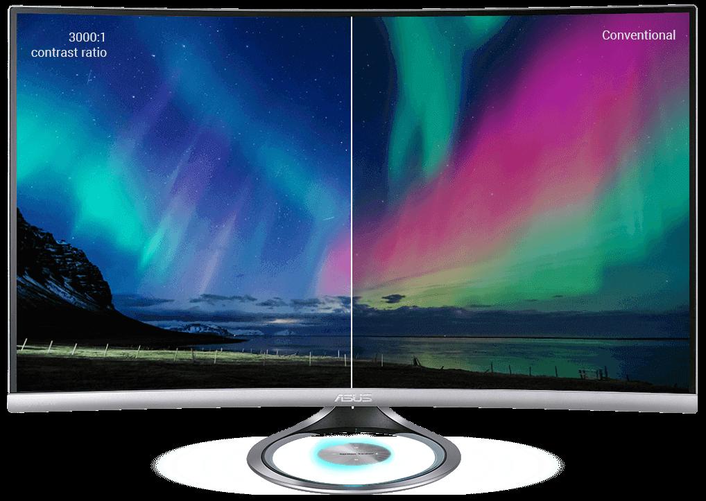 Le Designo Curve MX32VQ fournit un espace de couleurs 125 % sRGB pour une gamme de couleurs plus réaliste ainsi qu'un rapport de contraste de 3000:1