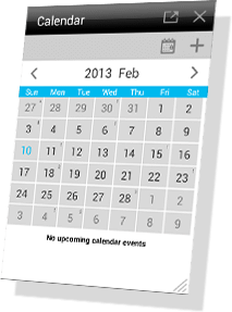 Floating Apps - Calendar