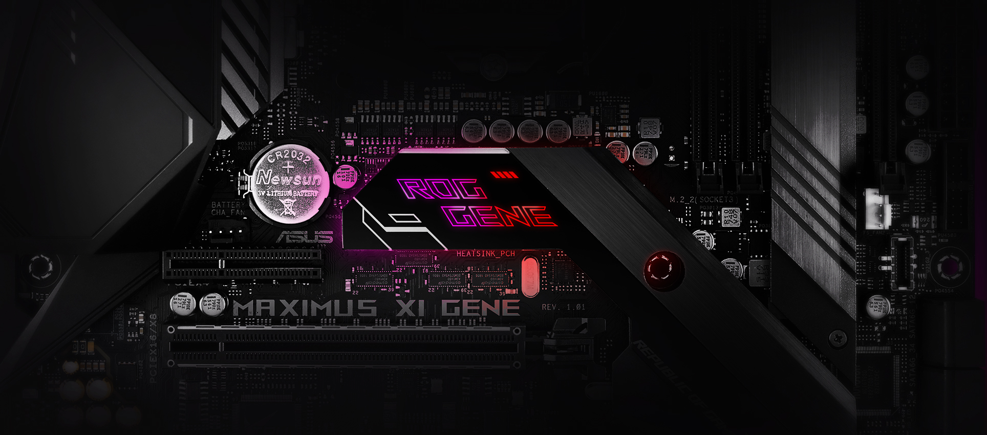 Dc Fan Controller Takes Bare Bones Approach Analog Content From Rog Maximus Xi Gene Motherboards Asus Usa Together With Aura Rgb Lighting That Synchronizes A Vast Ecosystem Of Compatible Products Is Primed For Endless Personalization