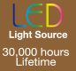 The S1's LED light source helps you save on costly maintenance fees