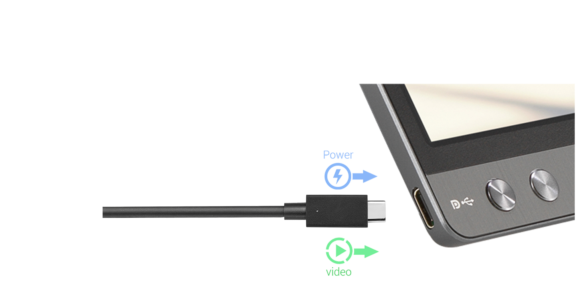 ZenScreen MB16AC features an hybrid-signal solution for USB Type-A and USB Type-C support