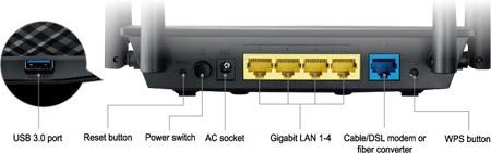 ASUS RT AC58U AC1300 Dual Band Gigabit