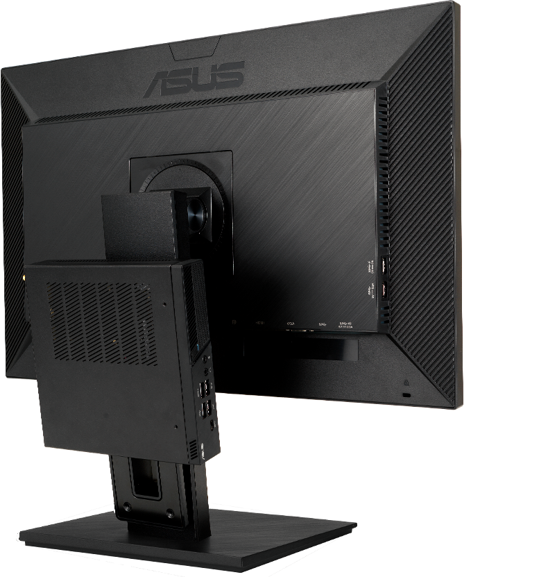 Der BE24EQSB ist mit VESA-Halterungen kompatibel und kann problemlos an der Wand oder einem Displayarm befestigt werden.