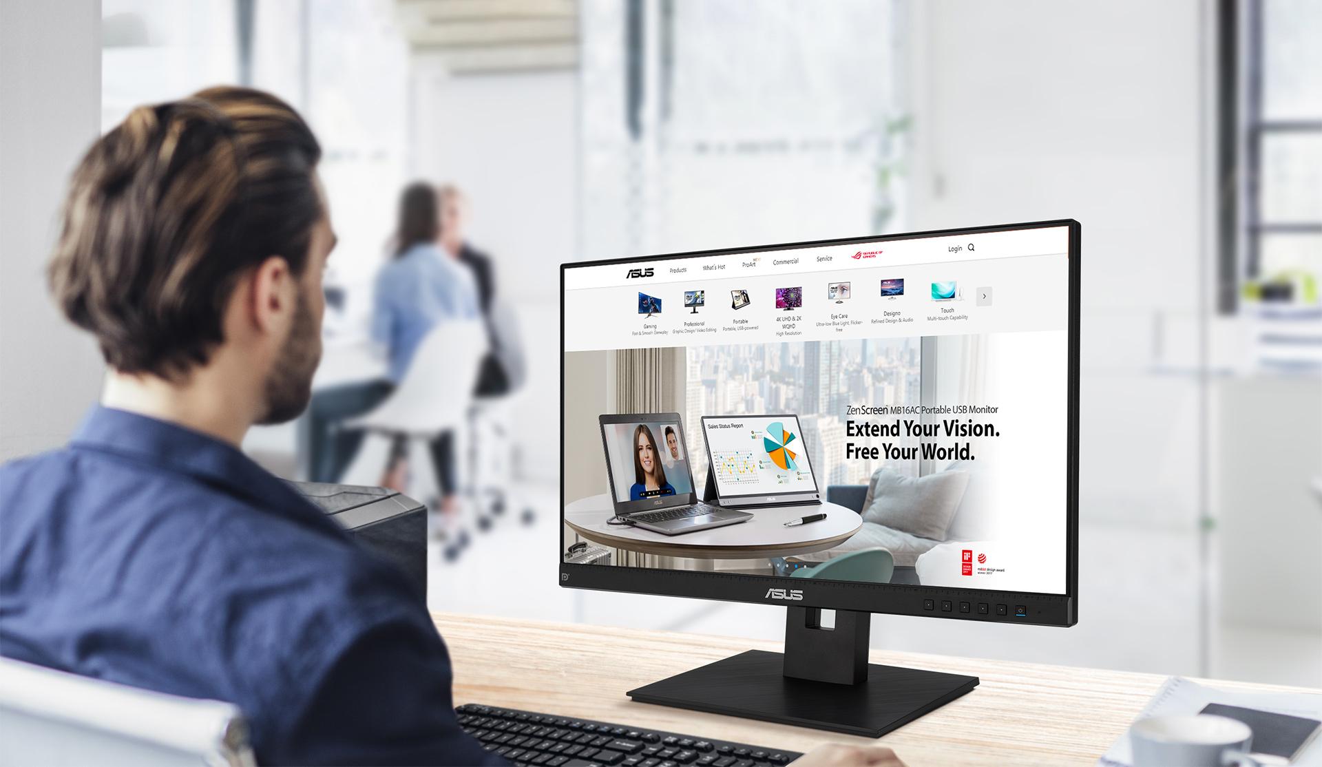 Der BE24EQSB ist ein 60,45cm (23,8 Zoll) Full-HD-Monitor mit integrierter Full-HD-Webcam (2MP), Mikrofon-Array und Stereo-Lautsprechern für Videokonferenzen und Live-Streaming.