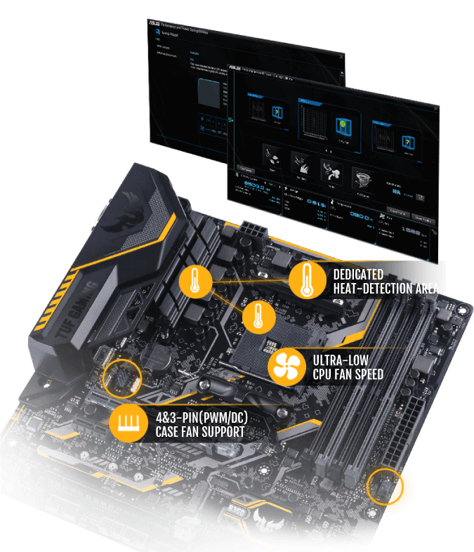 TUF B350M-PLUS GAMING ASUS AMD Ryzen AM4 DDR4 HDMI DVI VGA M.2 USB 3.1 MicroATX B350 Motherboard