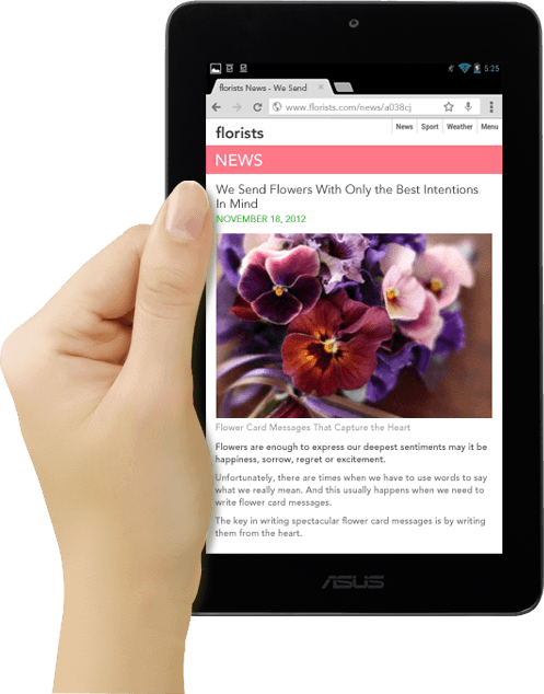 """7"""" is the perfect size for reading, browsing internet and connected with others."""