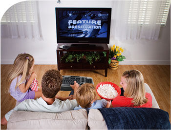 PC HD multimedia content enjoyment on TV