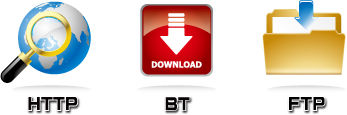 download engine lets you download HTTP, FTP and BitTorrent files 24/7