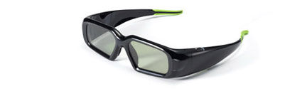 Lifelike wide-angle high definition 3D through NVIDIA 3D Vision, active shutter glasses