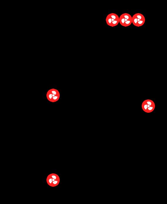 4-pins PWM/DC-ventilator positie