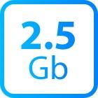 2.5 G Ethernet bandwidth