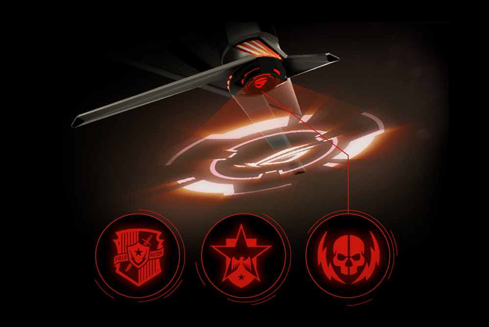 Image result for Customizable Light Signature The Light Signature projection kit lets you create and customize light effects that are projected from ROG Swift PG27UQ onto your desktop surface. It includes two ROG logo covers and three blank covers that you can use to create customized light projections that show your unique gaming style.