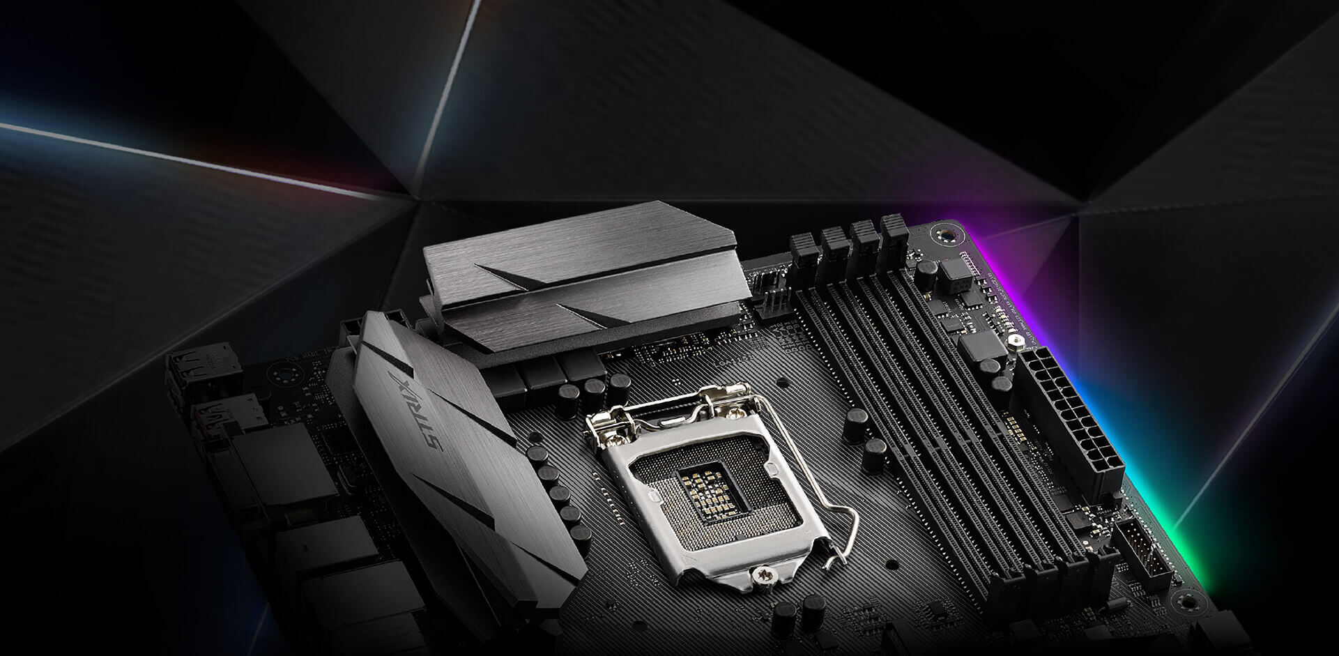 Rog Strix B250f Gaming Motherboards Asus Usa Correspondence Of The Pins On Hdmi To Dvid Cable Aesthetics Aura Sync Technology Plus Angular Heatsink