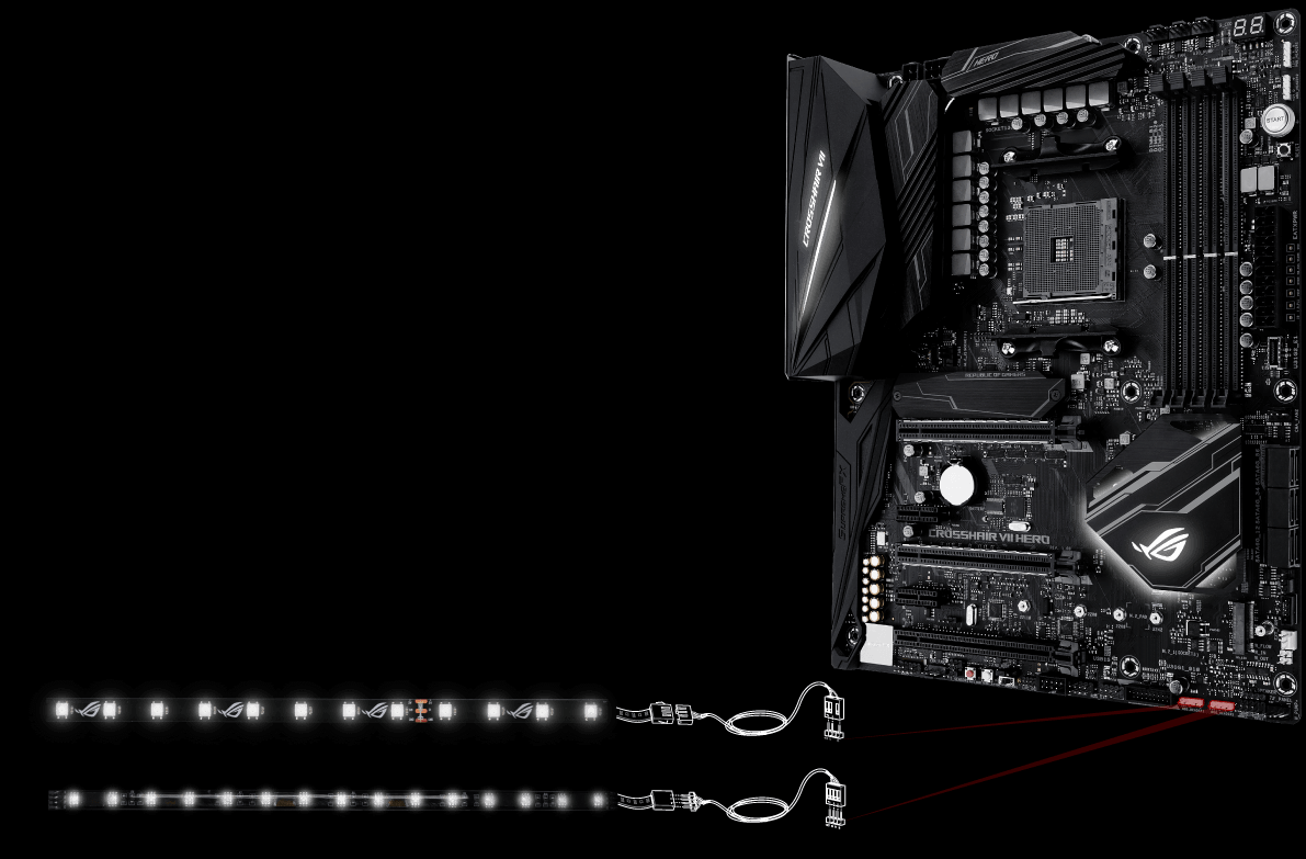 Rog Crosshair Vii Hero Motherboards Asus Usa And B Continuous Flow Production Of A Printed Circuit Board 6 Addressable Strip