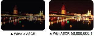 ASCR (ASUS Smart Contrast Ratio) 50.000.000:1 creëert scherpere en meer heldere beelden
