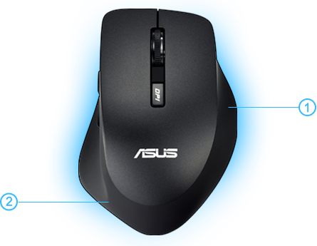 Asus Wt415 Optical Wireless Mouse Black Usb