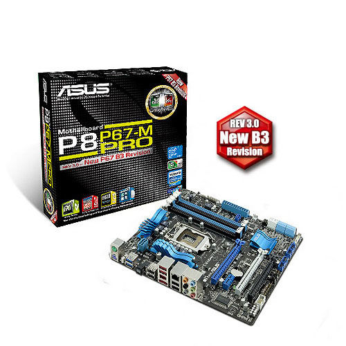 P 500 ASUS P8P67 M PRO Micro ATX P67 Motherboard Review