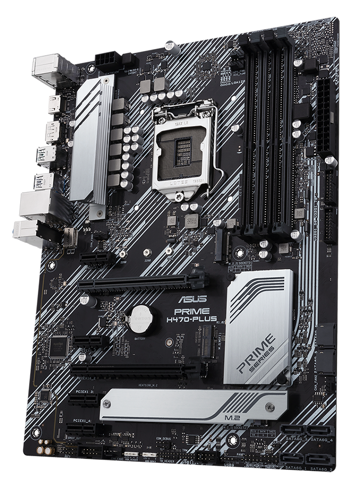 Image of an Asus Prime H470-PLUS motherboard