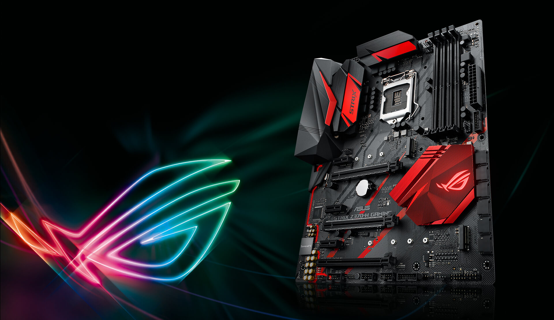 Rog Strix Z370 H Gaming Motherboards Asus Global Head Case Designs Black Circuit Boards Hard Back For Htc One Mini Factor In The Atmospheric Red Glow From Built Leds And Superior Supremefx Audio Youll Know That Looks Great Sounds