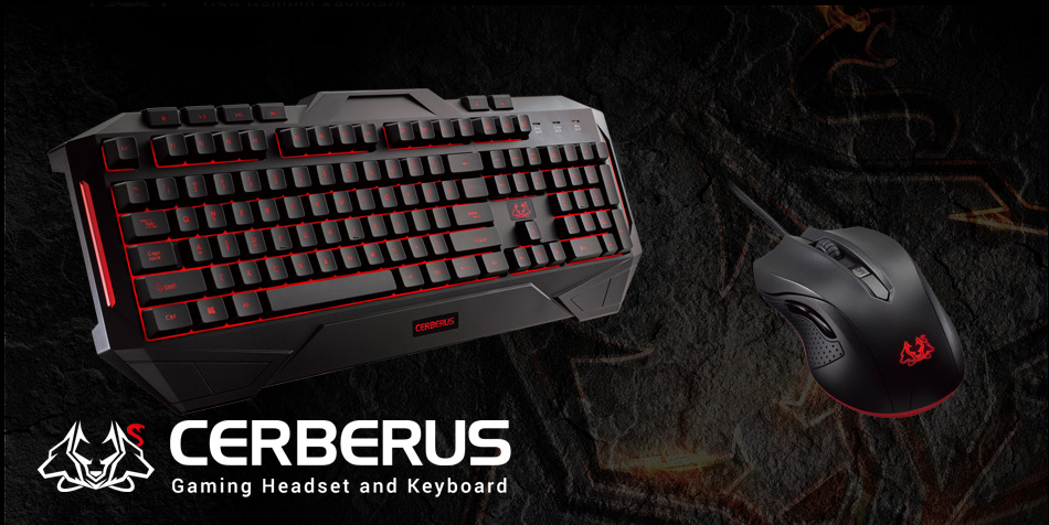 asus cerberus combo gaming keyboard and mice