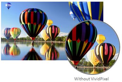 Bildschirm ohne VividPixel-Technologie