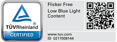 ZenScreen MB16AC passed stringent performance tests and is certified by TUV Rheinland laboratories to be flicker-free and to emit low levels of blue light.