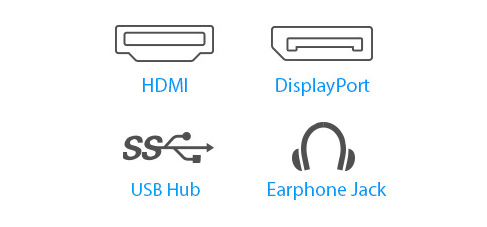 BE24EQSB features a host of connectivity options that include HDMI, DisplayPort, DVI-D, D-sub and two USB 3.0 ports.