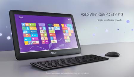 eff493962 ASUS All-in-One ET2040 je jednoduchý a elegantný počítač na akékoľvek  domáce využitie. Je štýlový a štíhly, takže s jeho umiestnením v domácnosti  alebo v ...