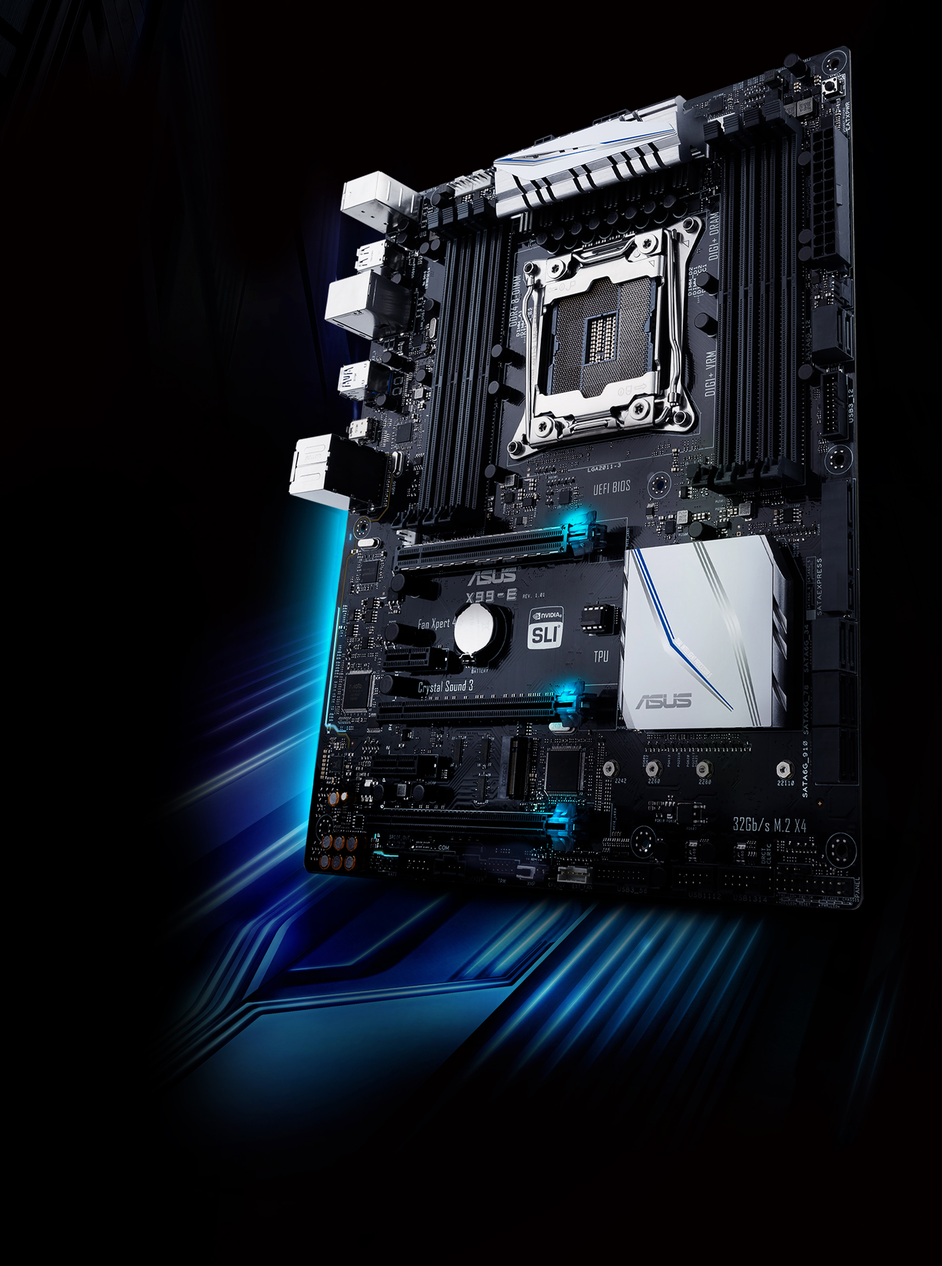 X99 E Motherboards Asus Usa Computer Diagram With The Following Parts Labeled Cpu Monitor Apps Overclock