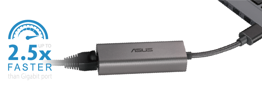 USB-C2500 enables up to 2.5 times faster speed than Gigabit port