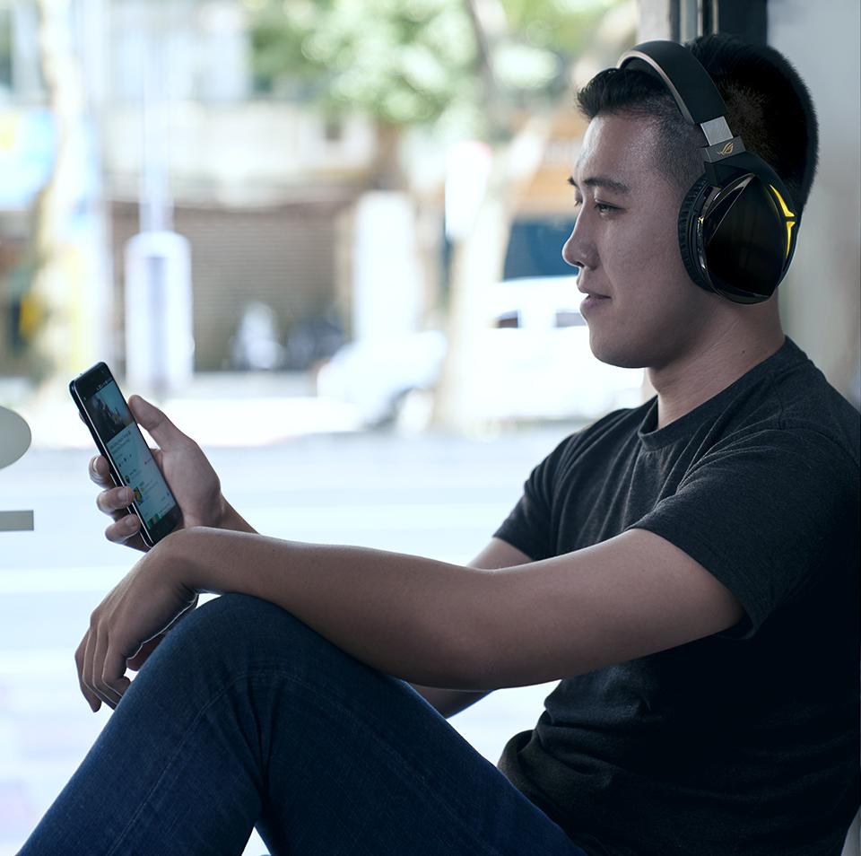 DAC amplificador ESS y sonido 7.1 Asus ROG STRIX FUSION 700 consolas y dispositivos m/óviles con Bluetooth 4.2 iluminaci/ón RGB sincronizable entre auriculares Auriculares gaming para PC