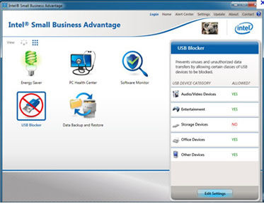 Підтримка Intel® Small Business Advantage (Intel® SBA)
