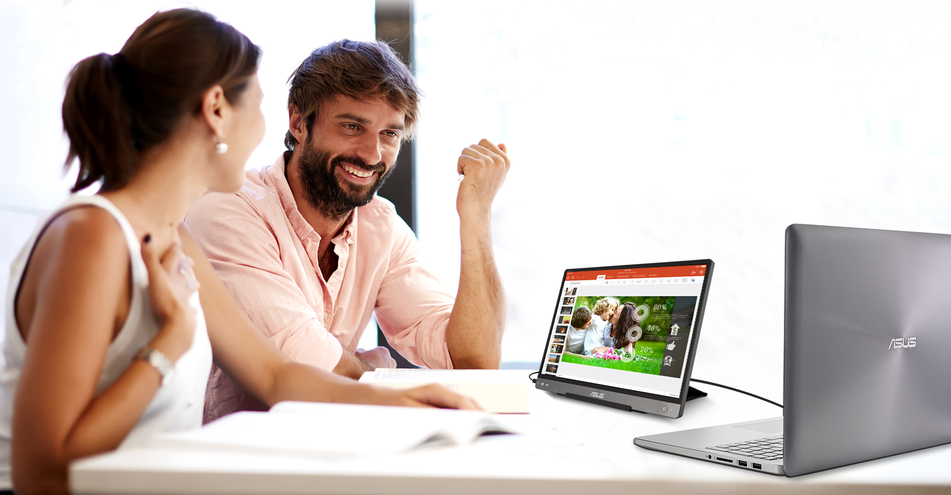 ZenScreen MB16AC uses IPS technology to give you more flexibility when extending your screen