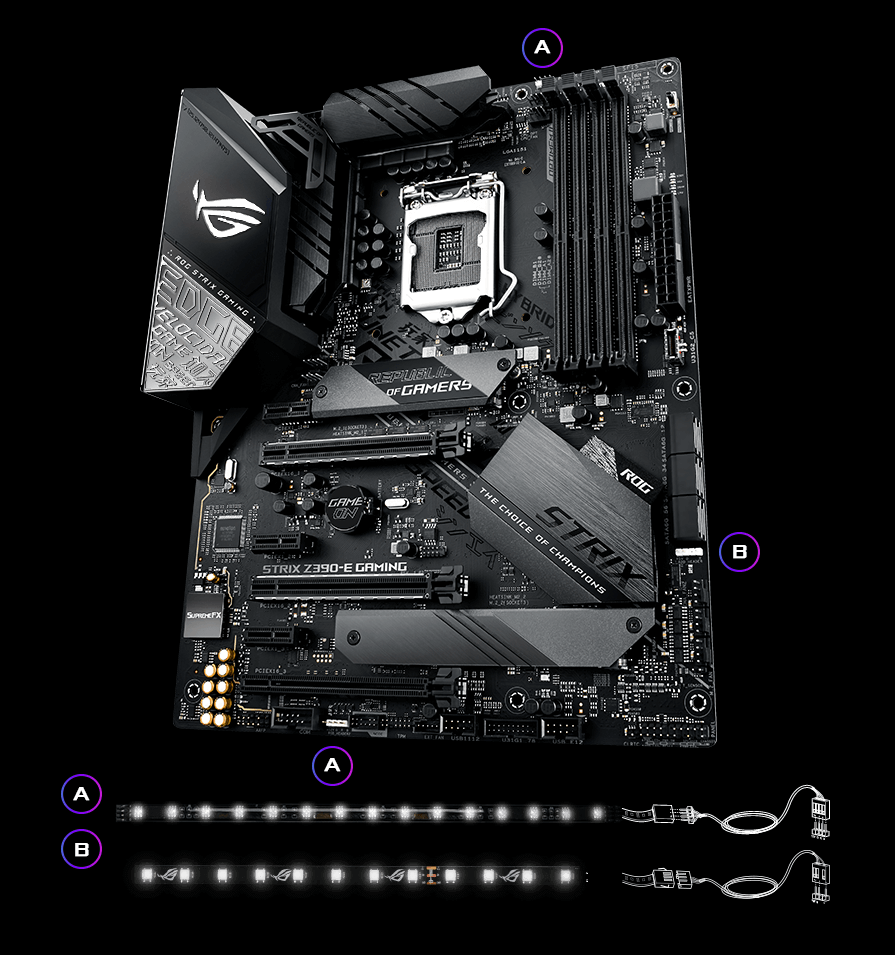 Rog Strix Z390 E Gaming Motherboards Asus Usa Regulated Dc Power Supply Variable Output 060v 1a Electronic Rgb Header