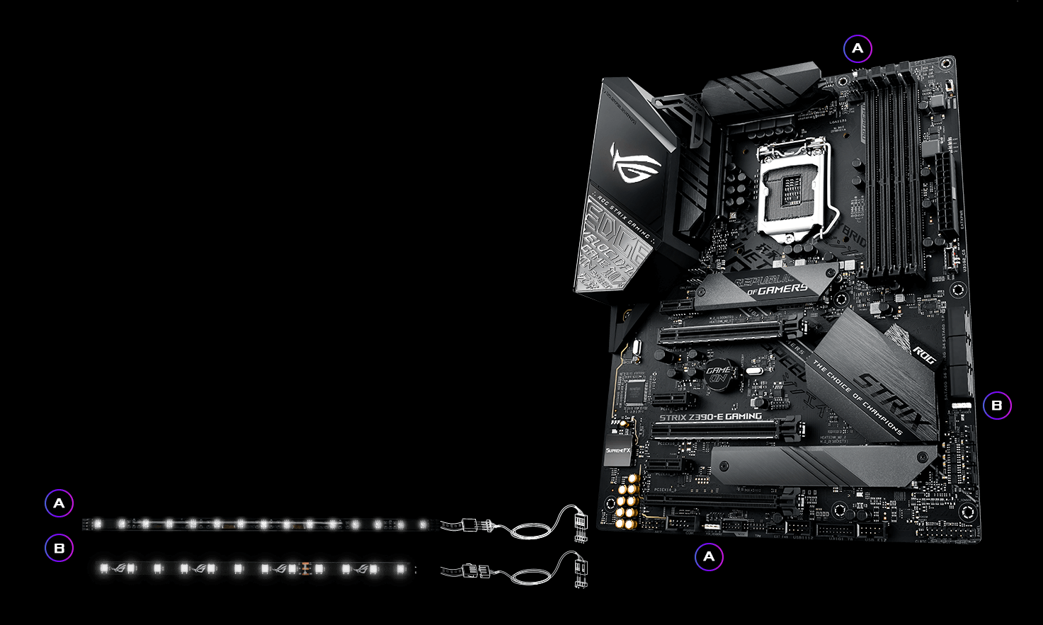 Rog Strix Z390 E Gaming Motherboards Asus Usa Electronics Guide Gt Digital Integrated Circuits Ii Ic Series Rgb Header