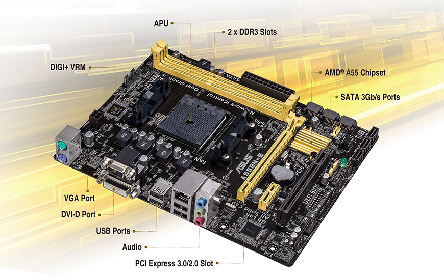 Asus A55BM-E/BR Motherboard Drivers for Windows Download
