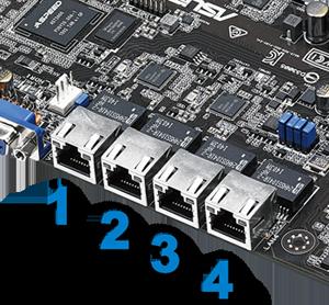 Asus P10S-C/4L Quad LAN with Platinum Grade Power Saving Technology