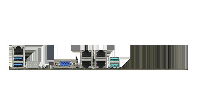 Quad Intel<sup><sup>®</sup></sup> I210AT Gigabit Ethernet