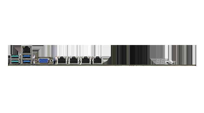Quad Intel<sup>®</sup> I210AT Gigabit Ethernet
