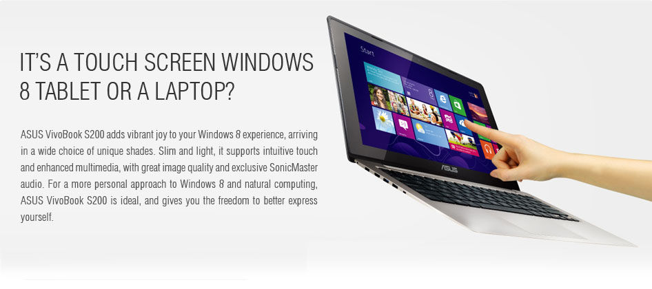 It's a touch screen windows 8 tablet or a laptop?