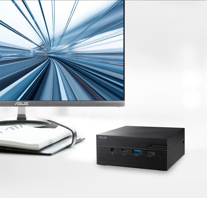 جهاز الكمبيوتر ASUSPRO PN40-Business صغير الحجم- M.2 SSD-HDD -ترقية
