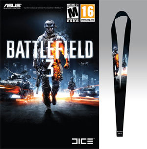 Bundled Battlefield 3 game coupon and lanyard