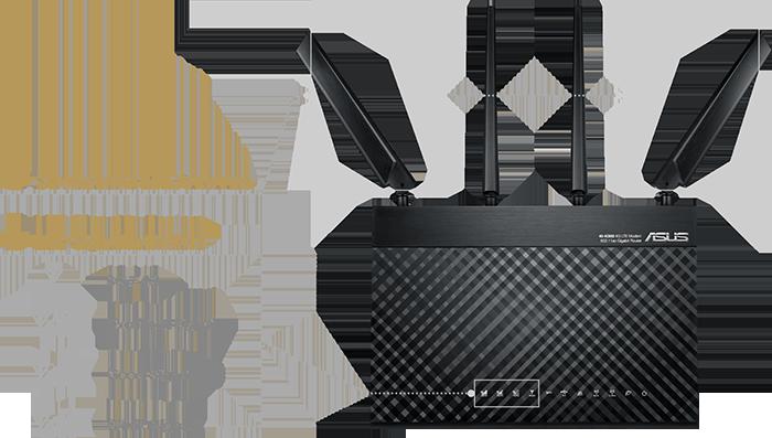 Le 4G-AC68U est fourni avec des antennes 4G LTE détachables et évolutives, pour vous offrir une utilisation plus flexible !