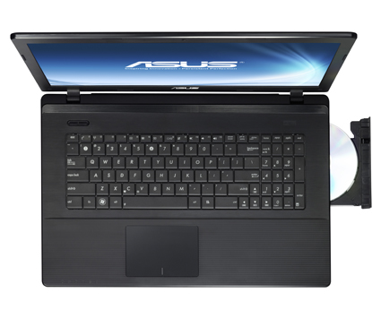 The ASUS X75 features several color choices to express your own style