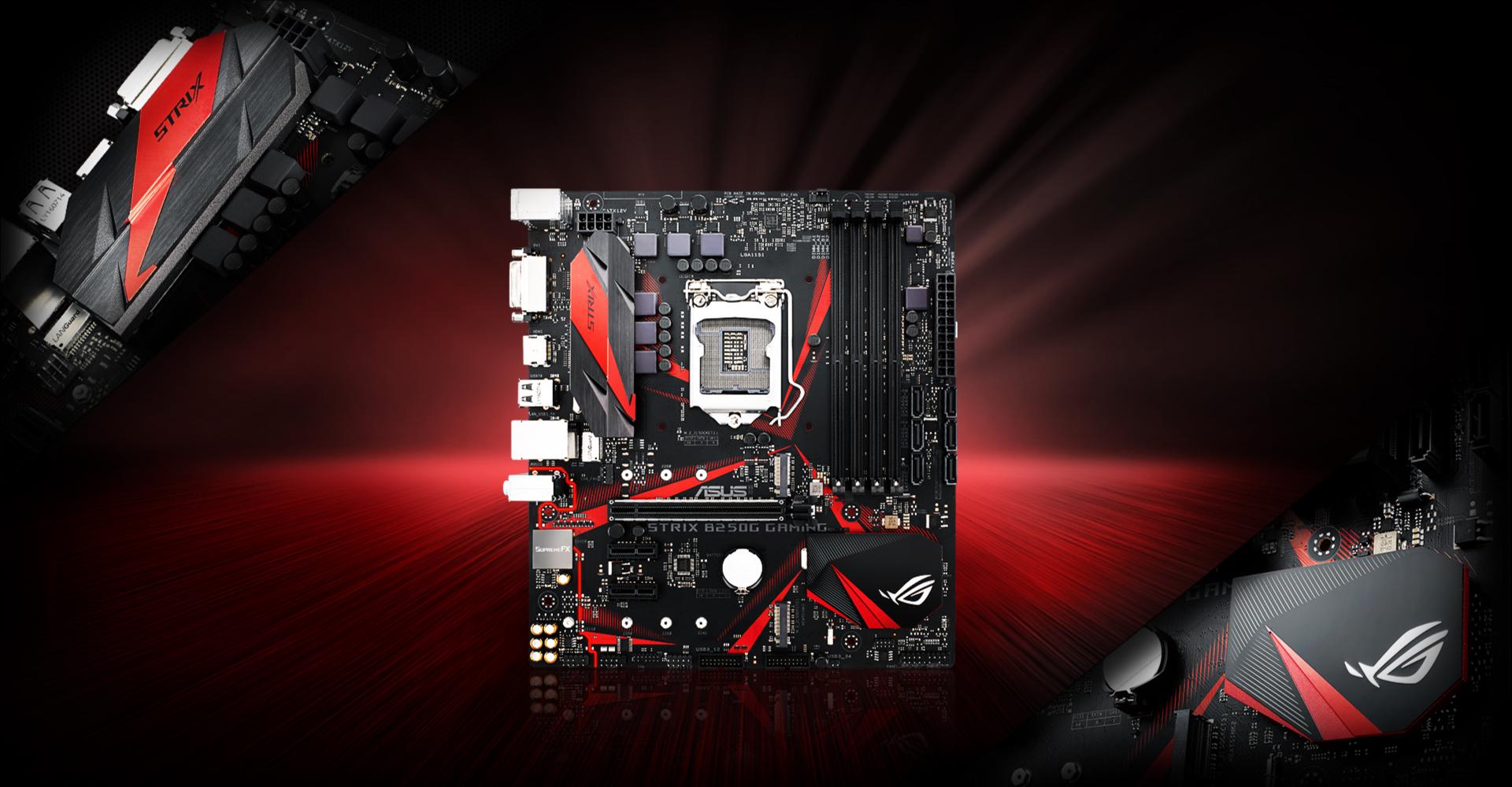 Al pari del suo aspetto aggressivo non aspettatevi basse prestazioni dalla scheda madre ROG Strix B250G Gaming