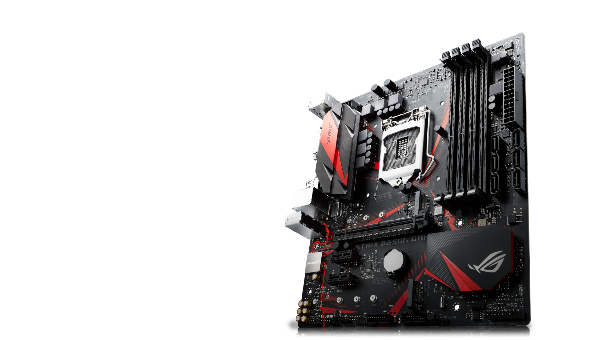 Rog Strix B250g Gaming Motherboards Asus Usa Hp Desktop Motherboard Wiring Diagram Charges Every Movement Of Game With Thrilling Energy And Equips You Epic Speed Agility Join The Republic