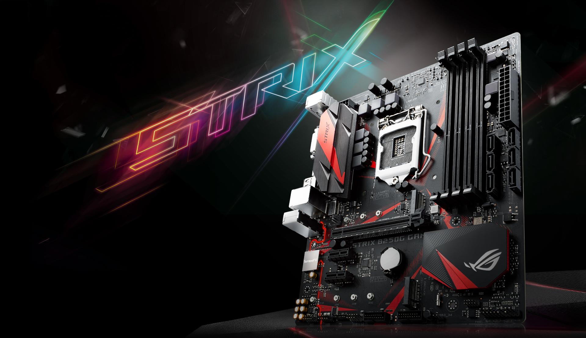 ROG Strix B250G carica ogni movimento di ogni partita con un energia emozionante e ti offre velocit e agilit di gioco senza paragoni