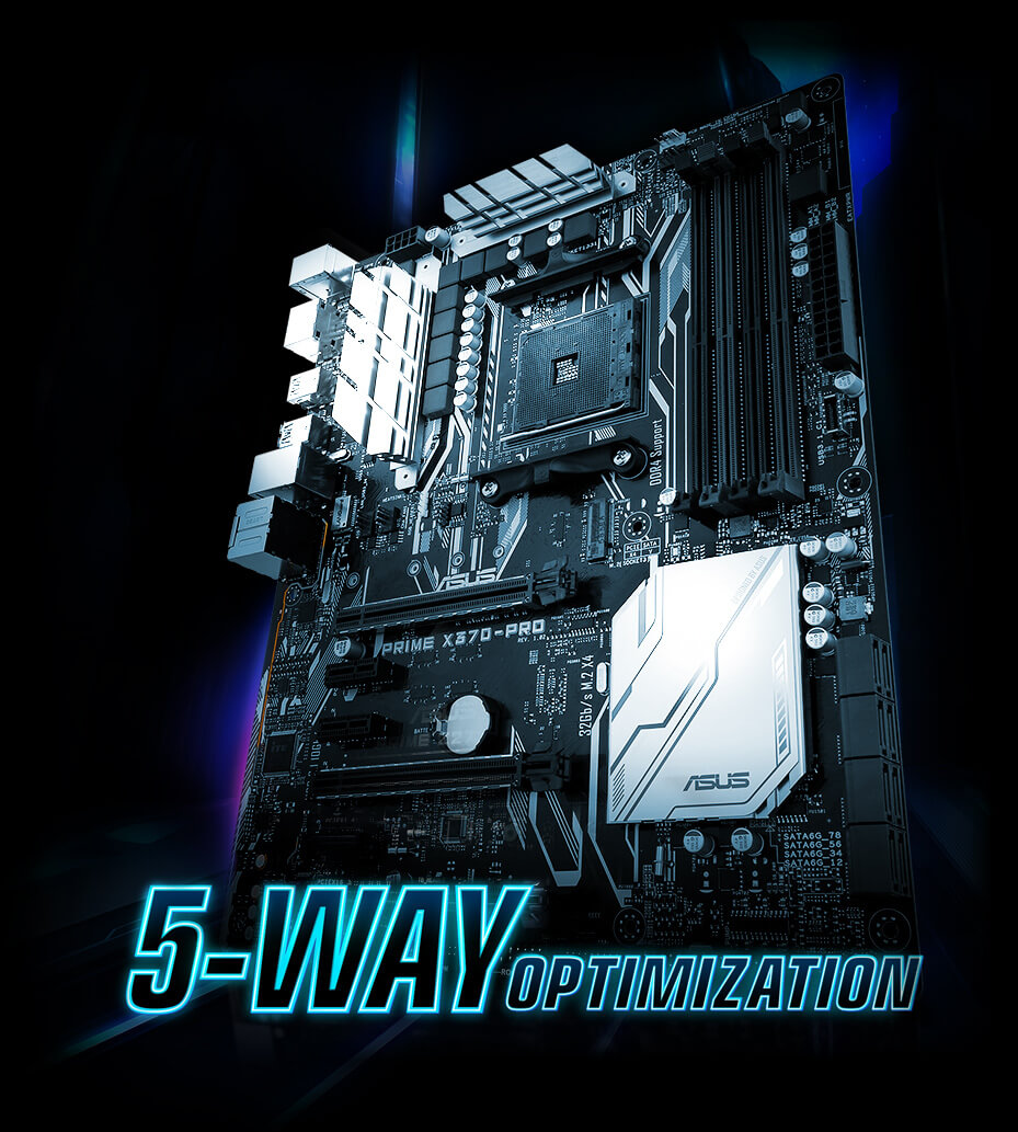Prime X370 Pro Motherboards Asus Usa Pc Computer Atx Power Supply Schematic Diagram 5 Way Optimization Makes Your Smart It Dynamically Optimizes Essential Aspects Of System Based On Real Time Usage So You Get Superb Cpu