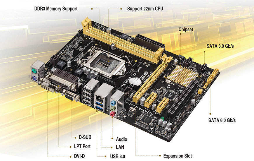 NUOVO ASUS H81M-K SCHEDA MADRE LGA 1150 Intel H81 DDR3 DVI VGA USB3.0 TESTATO!!!